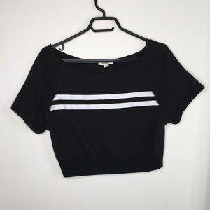 Black with white stripes t shirt